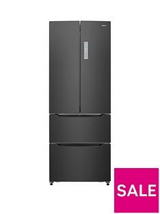 Hisense RF528N4AB 70cm Wide French Door Style Fridge Freezer - Black
