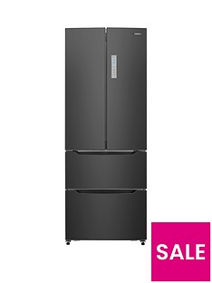 Hisense RF528N4AB 70cm Wide Total Non Frost French Door Style Fridge Freezer - Black
