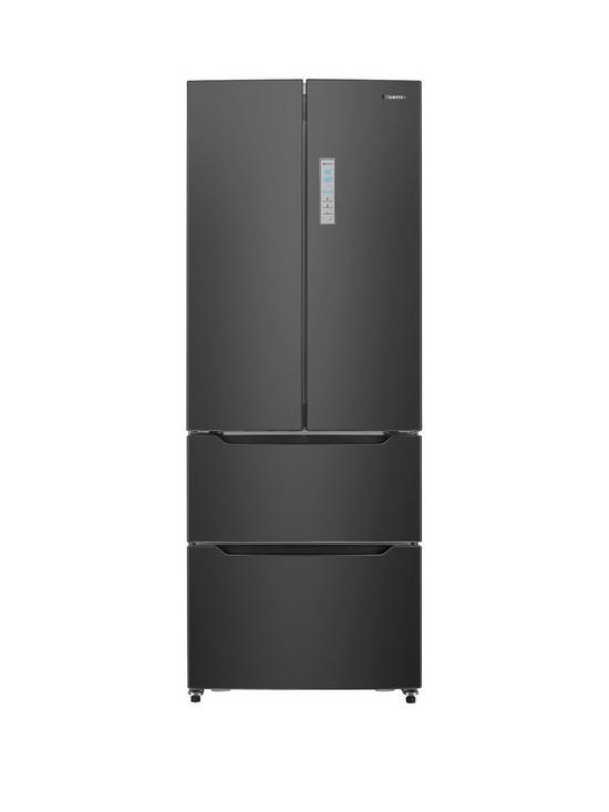 Hisense Rf528n4ab 70cm Wide Total Non Frost French Door Style Fridge Freezer Black Very Co Uk