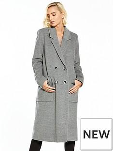warehouse-warehousenbspsilk-mix-longline-coat