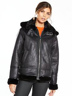 warehouse-warehouse-faux-leather-hooded-oversized-biker-jacket