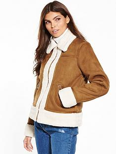 warehouse-suedette-zip-through-jacket