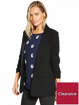warehouse-ruched-sleeve-jacket