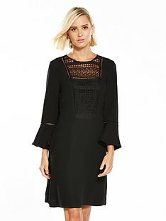 warehouse-lace-and-crepe-mix-dress