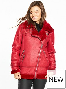 warehouse-oversize-biker-jacket-red