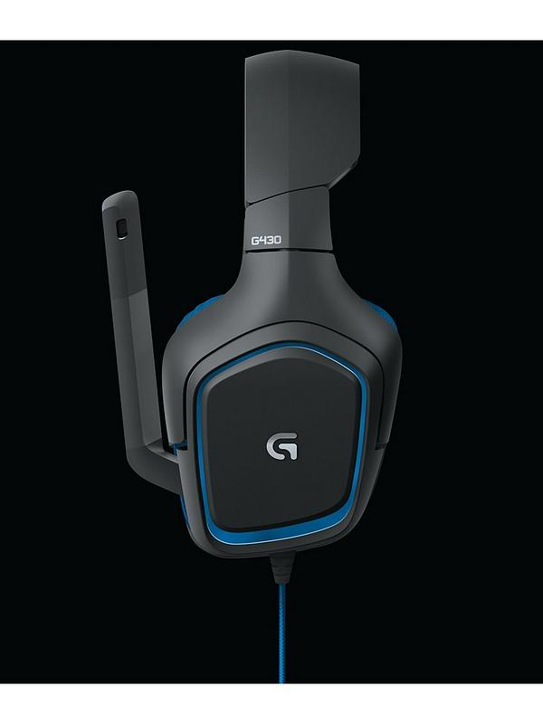 70eace52643 Logitech Logitech G430 Surround Sound Gaming Headset - PC and PS4  compatible | very.co.uk
