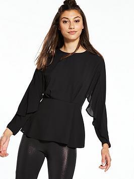 river-island-waisted-blouse-black