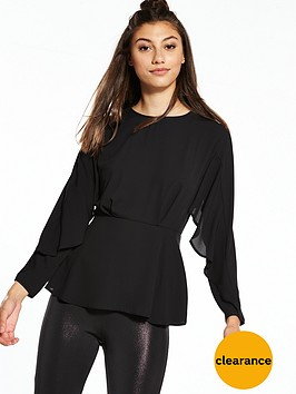 river-island-waisted-blouse-black