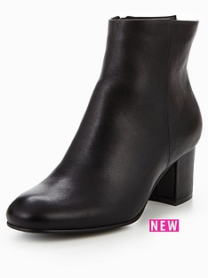 karen-millen-leather-block-heel-boot