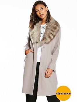 river-island-river-island-faux-fur-collar-unlined-coat