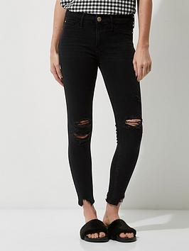 river-island-ripped-washed-black-jeans