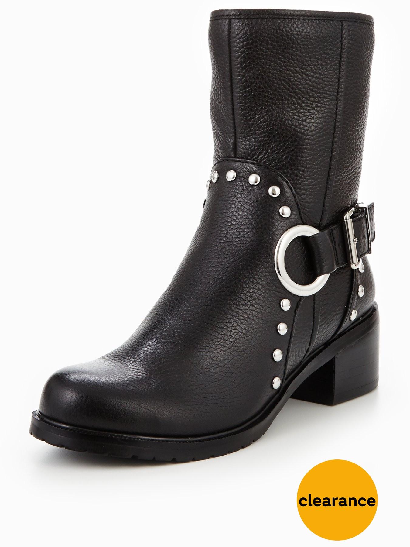 KAREN MILLEN Studded Biker Boot 1600204014 Women's Shoes KAREN MILLEN Boots