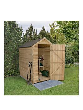 forest-6-x-4ft-overlap-pressure-treated-foot-apex-shed-without-windows