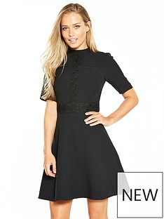 oasis-lace-detail-skater-dress