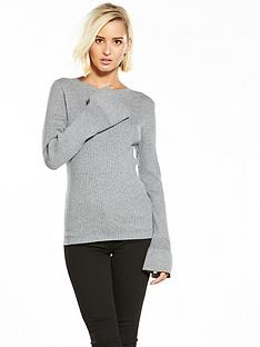 oasis-fluted-sleeve-jumper