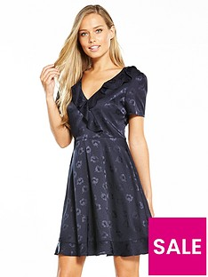 oasis-floral-jacquard-dress-navy