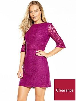 oasis-kick-sleeve-lace-dress-purple