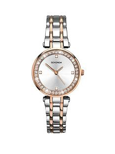 sekonda-sekonda-analogue-two-tone-alloy-bracelet-ladies-watch