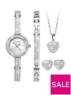 sekonda-sekonda-analogue-rhodium-plated-ladies-gift-set-watch