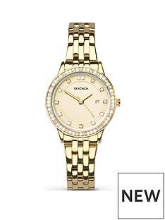 sekonda-sekonda-analogue-gold-plated-stainless-steel-bracelet-ladies-watch