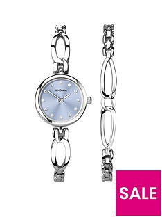 seksy-sekonda-pale-blue-dial-stainless-steel-bracelet-ladies-watch-and-bracelet-gift-set