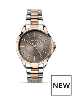 sekonda-sekonda-analogue-two-tone-stainless-steel-bracelet-ladies-watch