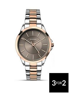 sekonda-sekonda-analogue-two-tone-stainless-steel-bracelet-ladies-watch