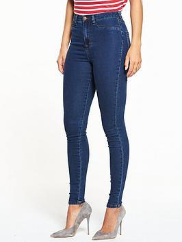 V By Very Addison High Waisted Super Skinny Jean - Indigo