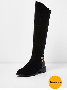river-island-flat-knee-high-padlock-boot