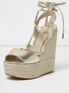 river-island-pebble-tie-up-wedge-sandal