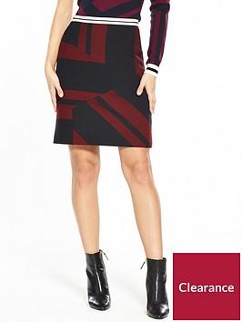 karen-millen-mixed-stripe-skirt
