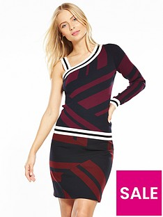 karen-millen-mixed-stripe-one-shouldernbspjumper
