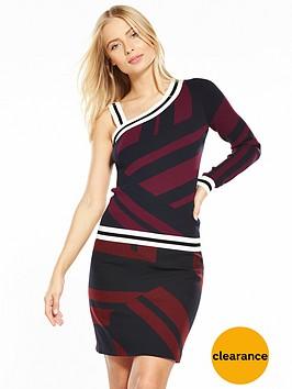 karen-millen-mixed-stripe-one-shouldernbspjumper
