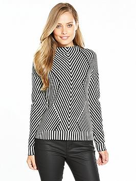 karen-millen-chevron-knit-jumper
