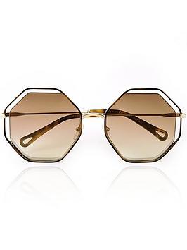 chlo-sunglasses-poppy-octagon-shaped-sunglasses-browngold