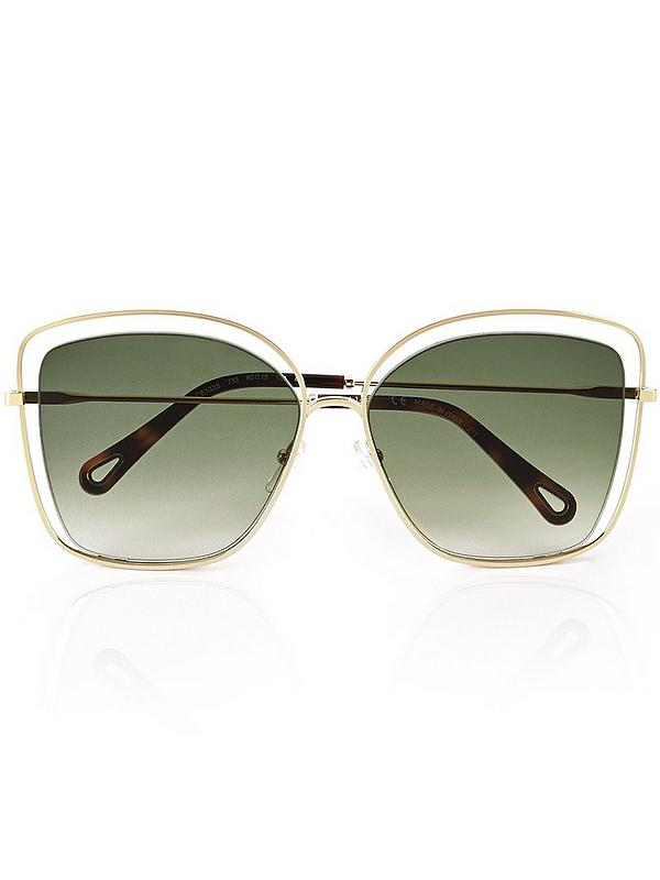 c7dd674d Poppy Cut Away Butterfly Frame Sunglasses - Gold