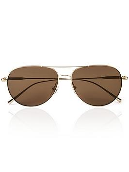 calvin-klein-double-bar-aviator-sunglasses-goldbrown