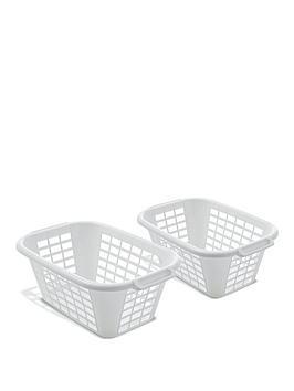 John Lewis & Partners Plastic Rectangular Laundry Basket