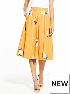 boss-orange-box-pleat-lemon-printed-midi-skirt-orange