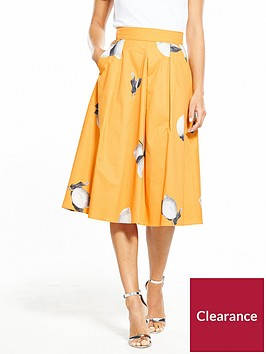 boss-orange-box-pleat-lemon-printed-midi-skirt-orange