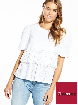 boss-tierednbspbroderie-anglaise-and-lace-blouse-whitenbsp