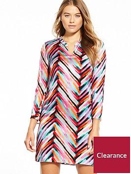 boss-collarless-printed-dress
