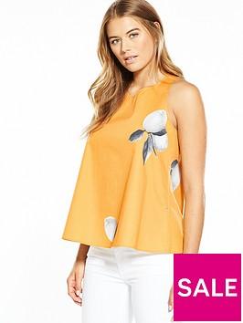 boss-orange-lemon-print-ring-back-detail-top-orangenbsp