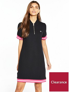 fred-perry-bold-tipped-piqueacute-dress-black