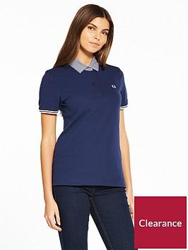 fred-perry-woven-collar-piqueacute-shirt-navy