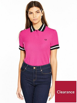 fred-perry-bold-tipped-pique-shirt-pink