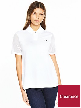 fred-perry-pleat-back-piqueacute-shirt-white