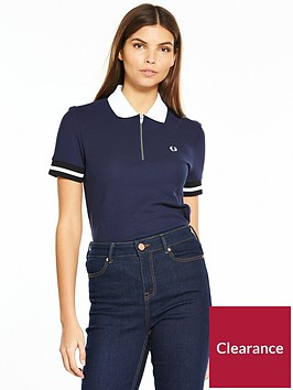 fred-perry-zip-neck-pique-shirt-navynbsp