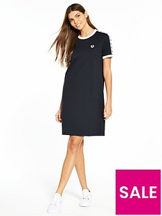 fred-perry-taped-ringer-t-shirt-dress-monochrome