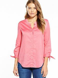 boss-orange-tie-sleeve-detail-blouse-bright-pink